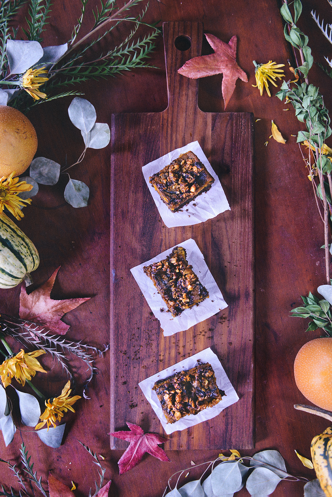 Whole Grain Pumpkin Gingerbread Bars with Pumpkin Streusel // www.WithTheGrains.com