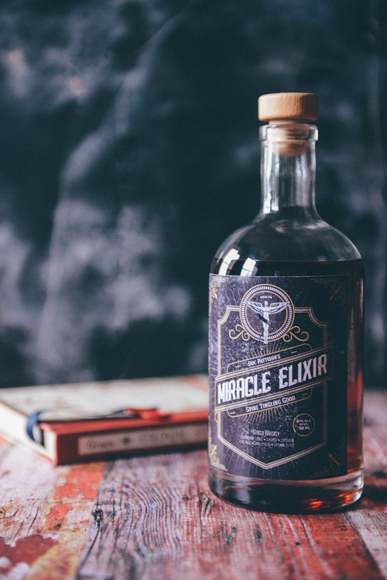 Spiced Whiskey in a Custom Labeled Bottle for the Whiskey Lover
