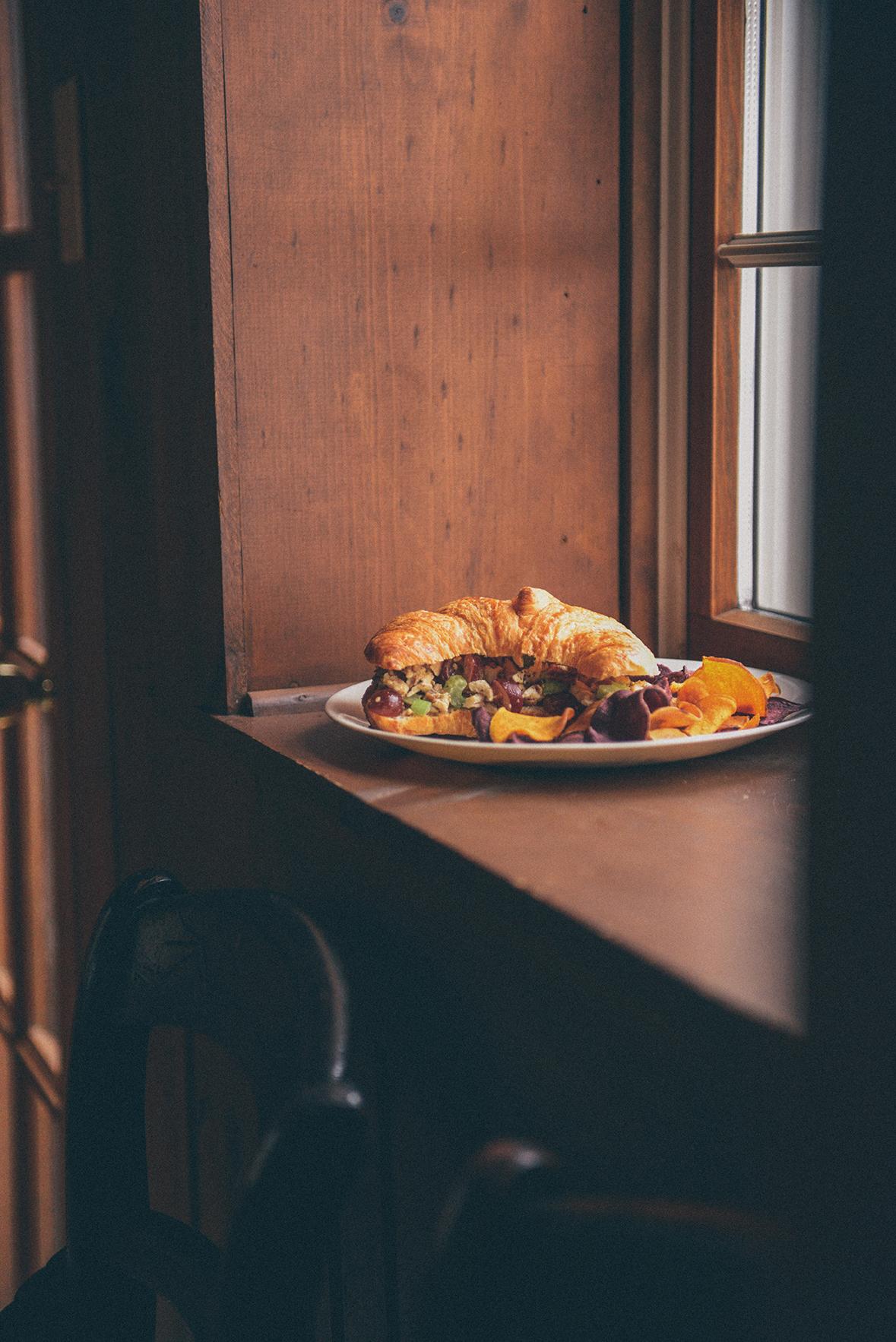 Roasted Chicken Salad Sandwiches // www.WithTheGrains.com