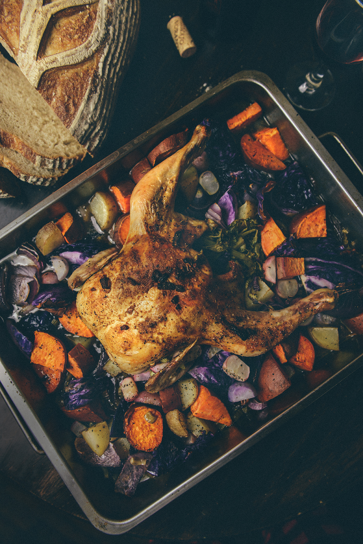 """Spicy Pepper Roasted Chicken from the book """"Soul Food Love"""" // www.WithTheGrains.com"""
