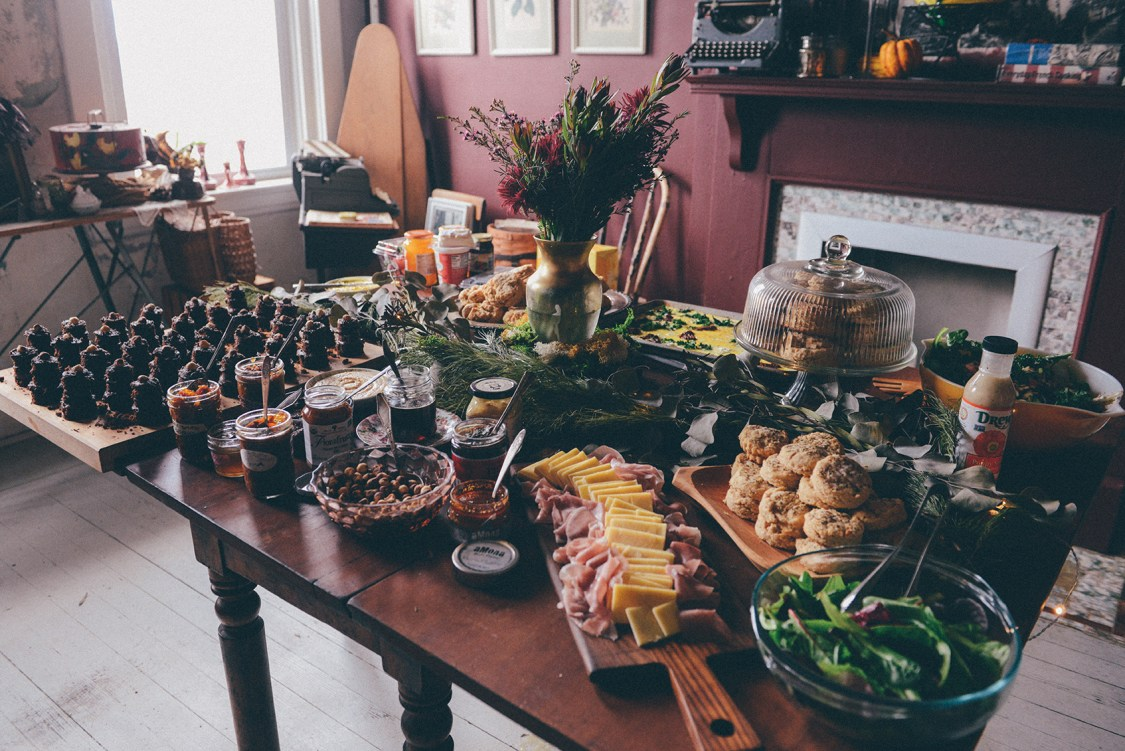 A Biscuit Buffet & Mini Cake Brunch for My Birthday // www.WithTheGrains.com