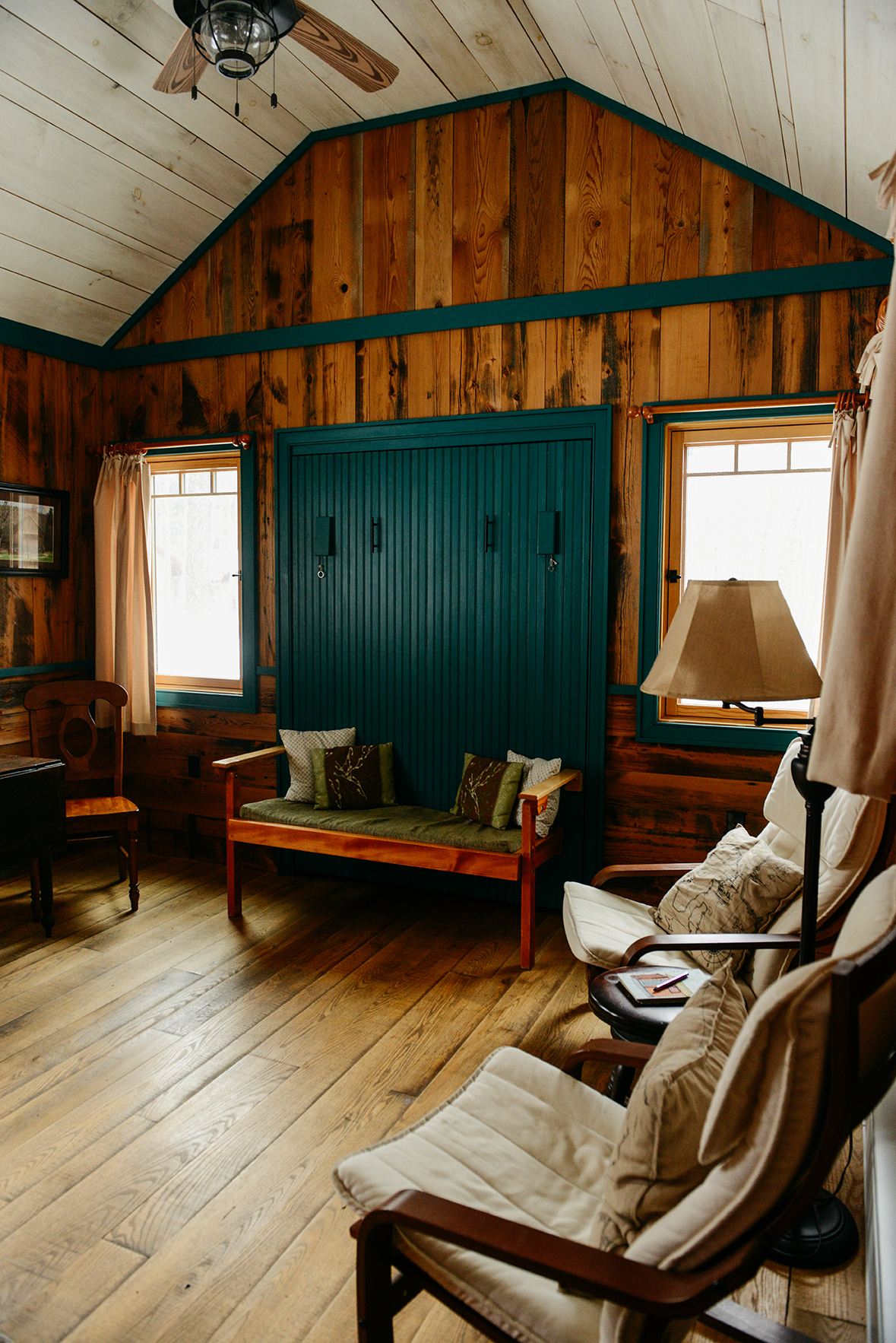 "A Tour of ""Moon Shine,"" A Tiny House Cabin at Blue Moon Rising Campground // www.WithTheGrains.com"