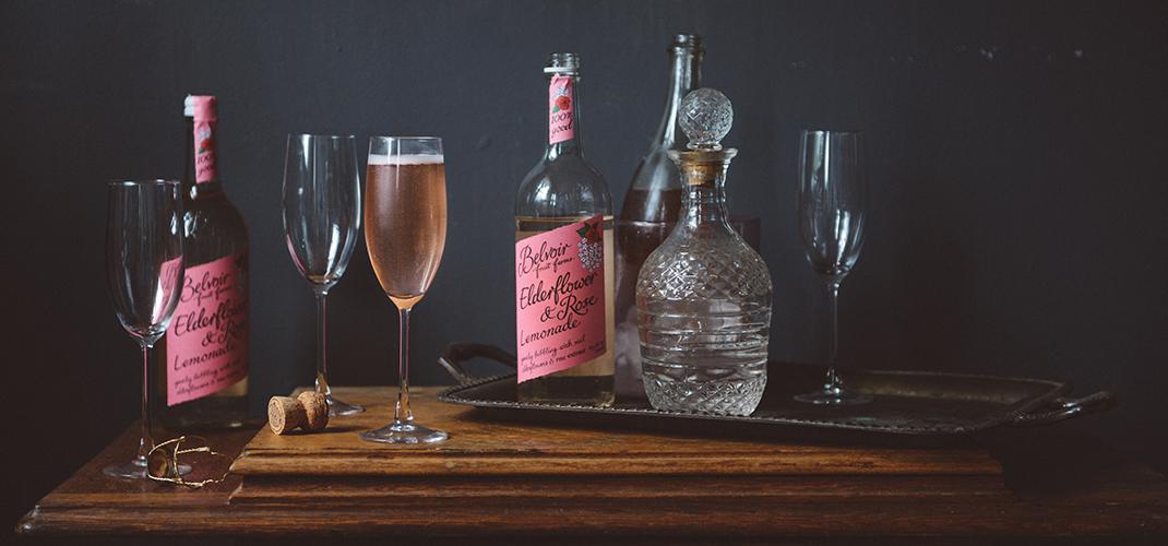 Rose Cocktails: Two Simple Cocktails feat. Belvoir Rose Elderflower Lemonade // www.WithTheGrains.com