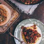 "Vegetarian Polenta ""Bolognese"" with Garlic Flatbreads + Leftovers Mezze"