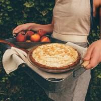 Frozen Peach Tart with Almond Coconut Crust (Gluten & Sugar Free)