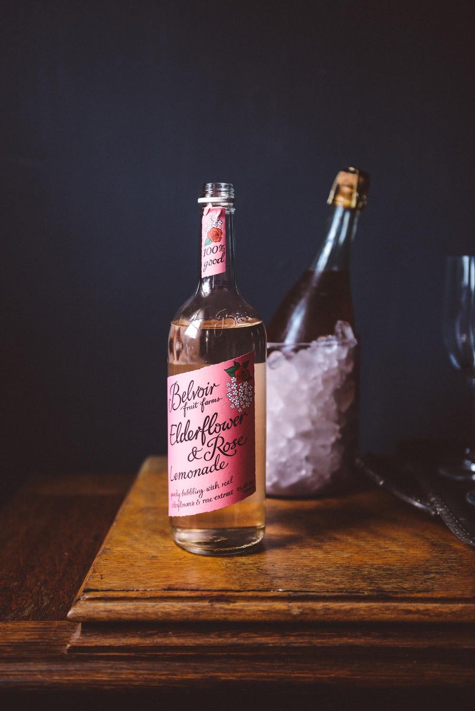 Two Simple Rose Cocktails featuring Belvoir Rose Elderflower Lemonade // www.WithTheGrains.com
