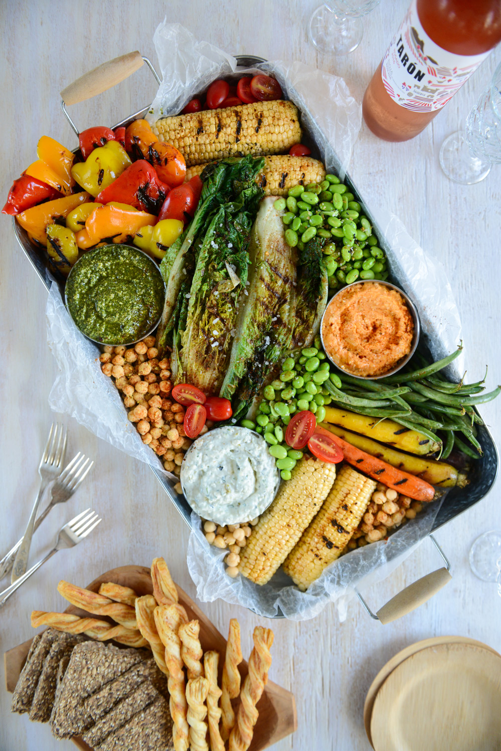 Sweet and Savory Spreads for Late Summer Entertaining // www.WithTheGrains.com