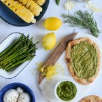 Grilled Corn Pizza with Burrata & Herbs