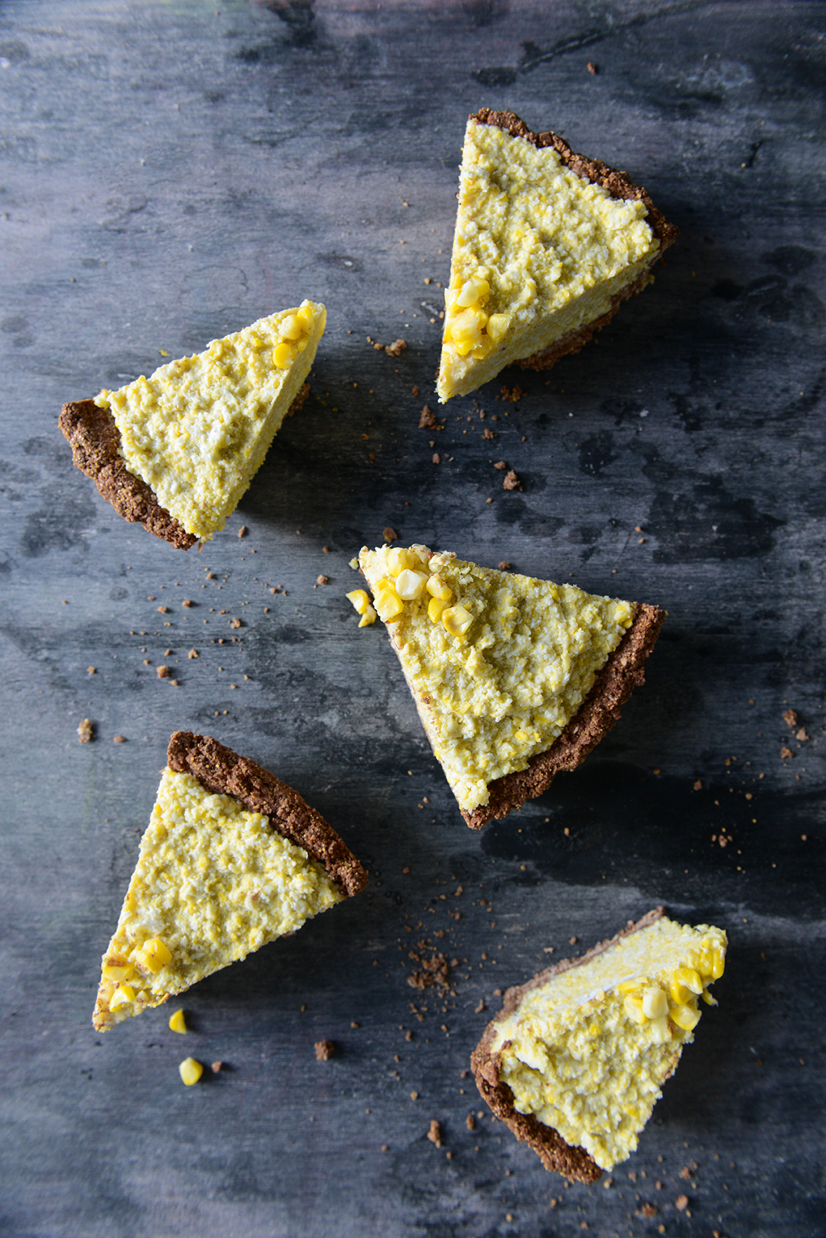 Frozen Corn Tart with Chocolate Crust (Vegan & Gluten Free) // www.WithTheGrains.com