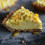 Frozen Corn Tart with Chocolate Crust (Vegan & Gluten Free)