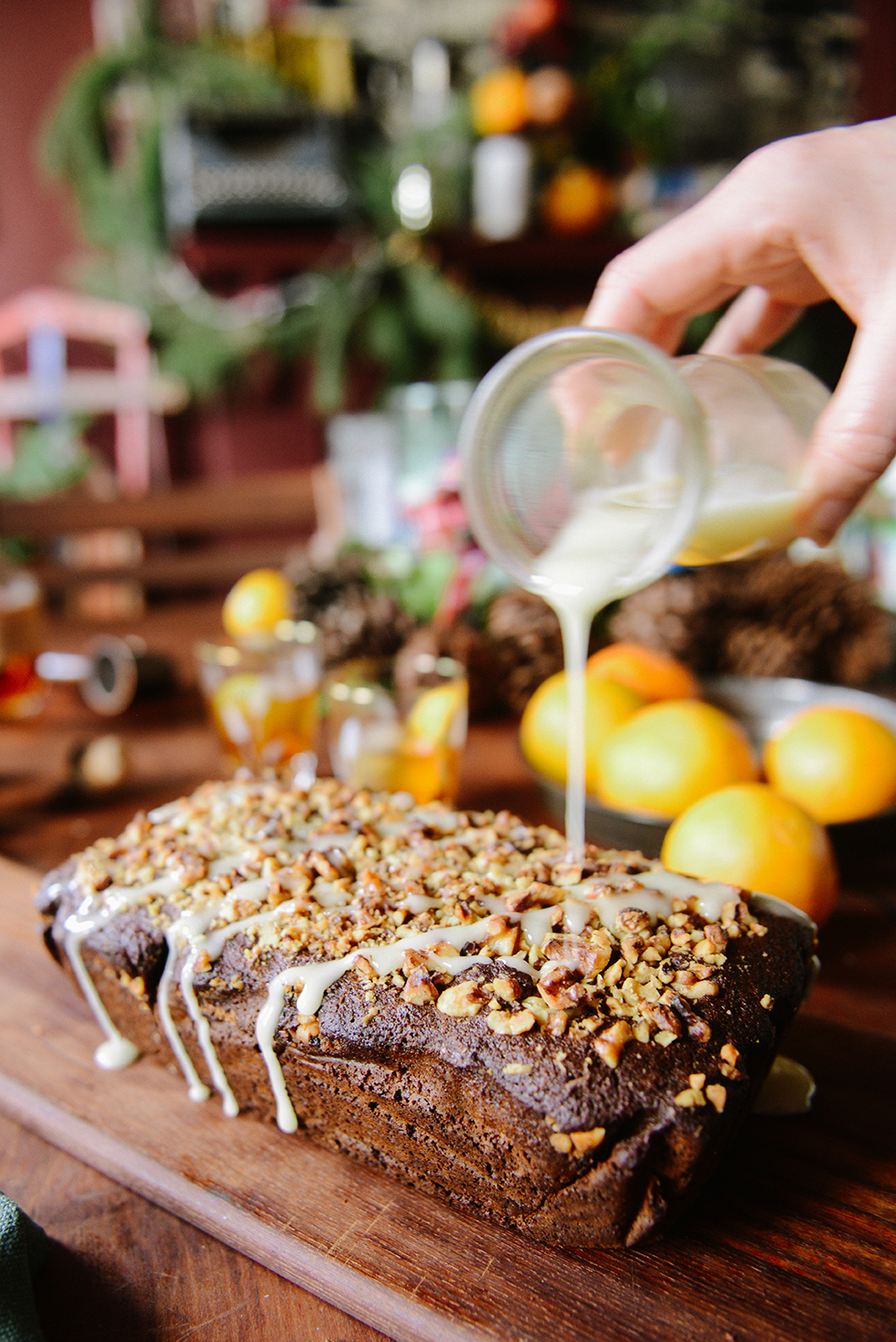 Whole Grain Gingerbread Loaf // www.WithTheGrains.com