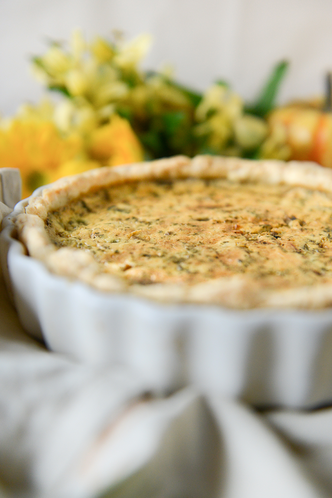 Spring Onion Quiche // www.WithTheGrains.com