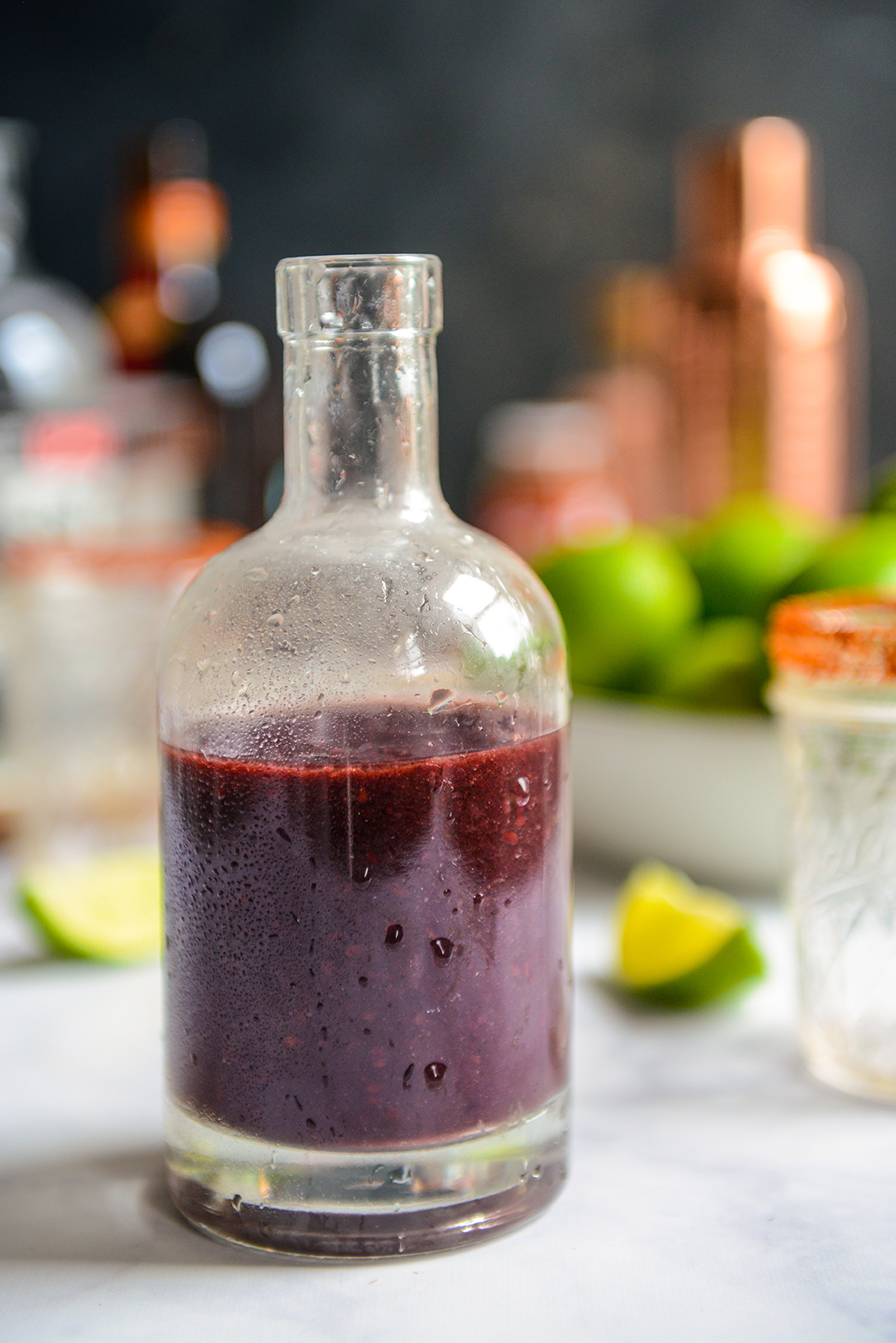 Blackberry Jalapeño Margaritas and Cakes for Healthyish Happy Hour // www.WithTheGrains.com