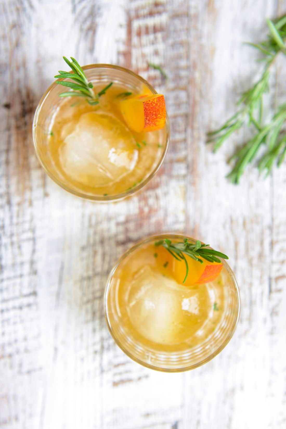 Nectarine Thyme Whiskey Cocktails and Cakes // www.WithThe Grains.com