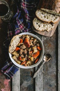 Guinness Lamb Stew with Root Vegetables // www.WithTheGrains.com