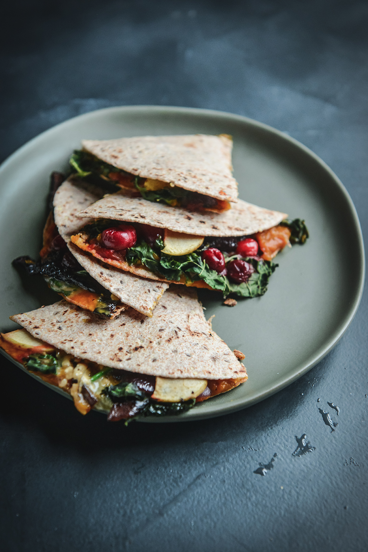 Thanksgiving Leftovers Quesadillas // www.WithTheGrains.com