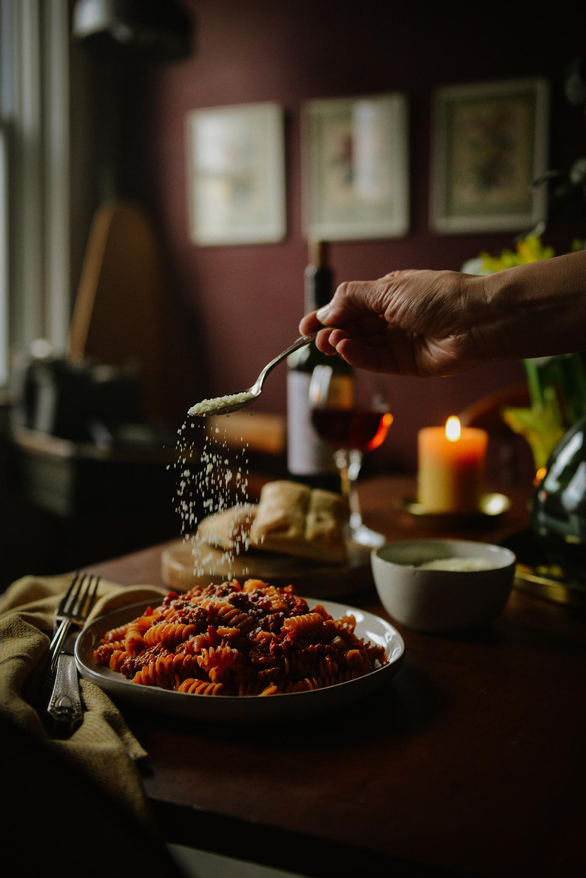 Waste Less: Ripened Tomato Pasta with Chorizo