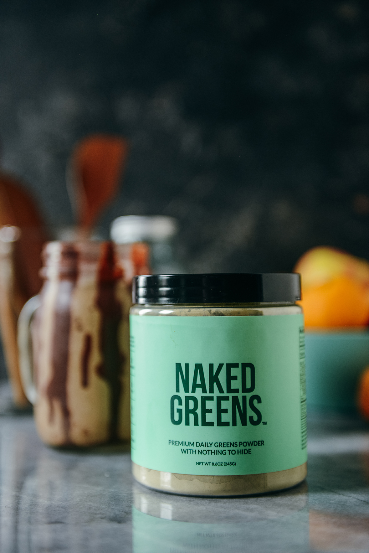 Naked Greens - a way to add more greens to your smoothie // www.WithTheGrains.com