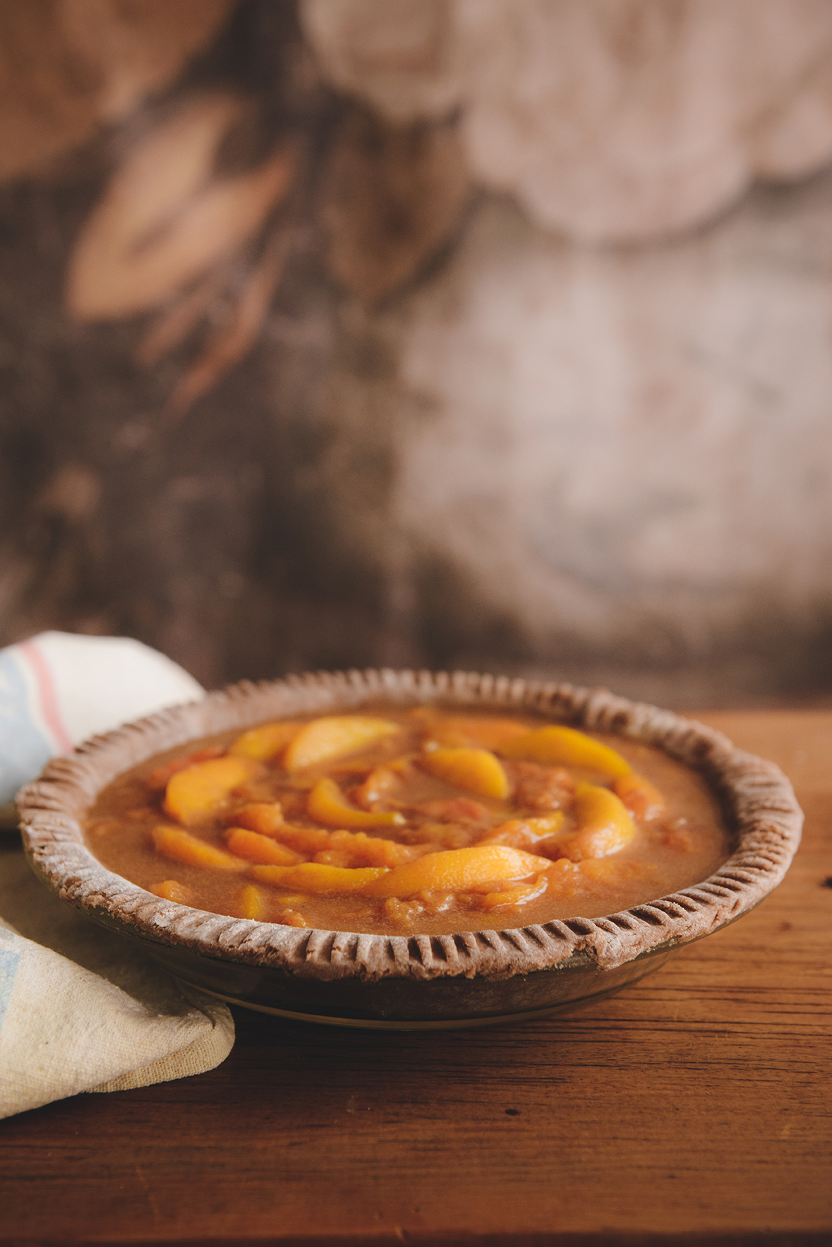 Whole Grain Peach Pie for Annie // www.WithTheGrains.com