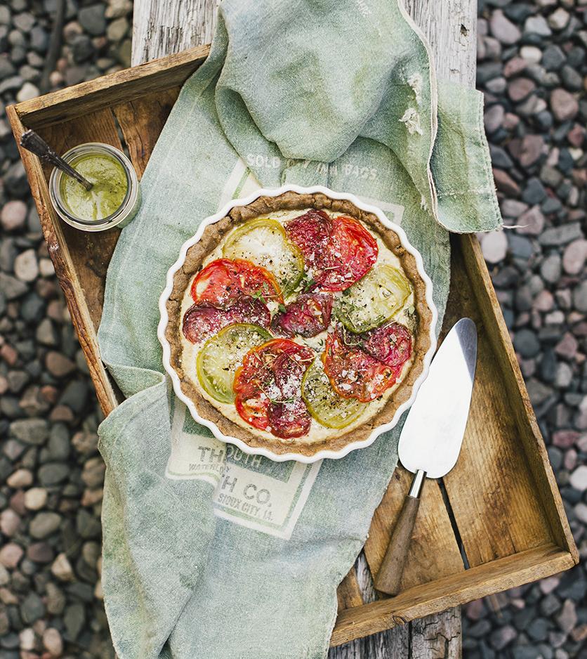 "Heirloom Tomato Tart from ""The Gluten-Free Grains Cookbook"" // www.WithTheGrains.com"