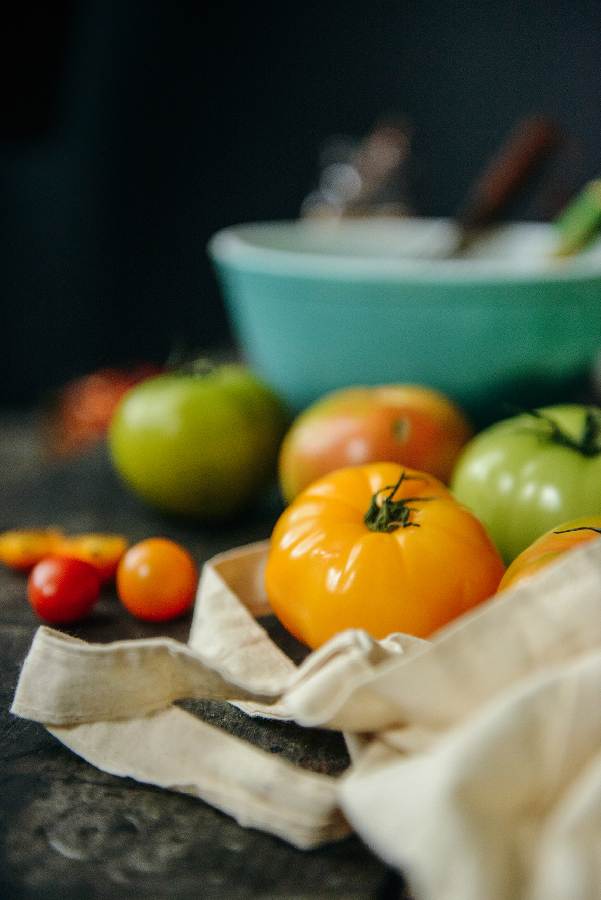 Ingredients for Tomato Tarts // www.WithTheGrains.com