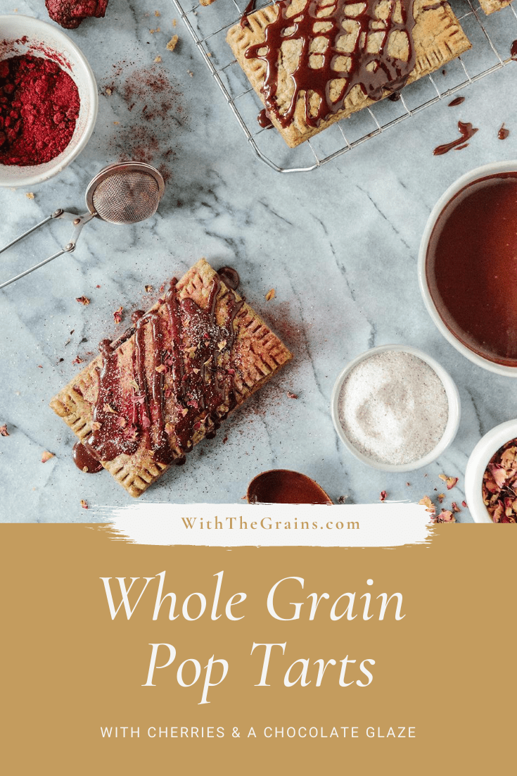 Whole Grain Homemade Cherry & Chocolate Pop Tarts // www.WithTheGrains.com