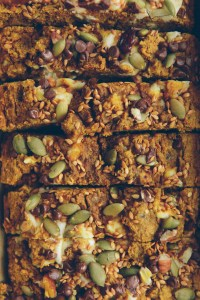 Pumpkin Cream Cheese Bread with Chocolate Chips // www.WithTheGrains.com