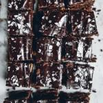 Dark Chocolate Rye Flour Brownies with Salted Peanut Butter & Ganache