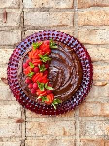 Game-Changing Chocolate Avocado Frosting & Chocolate Avocado Cake // www.WithTheGrains.com