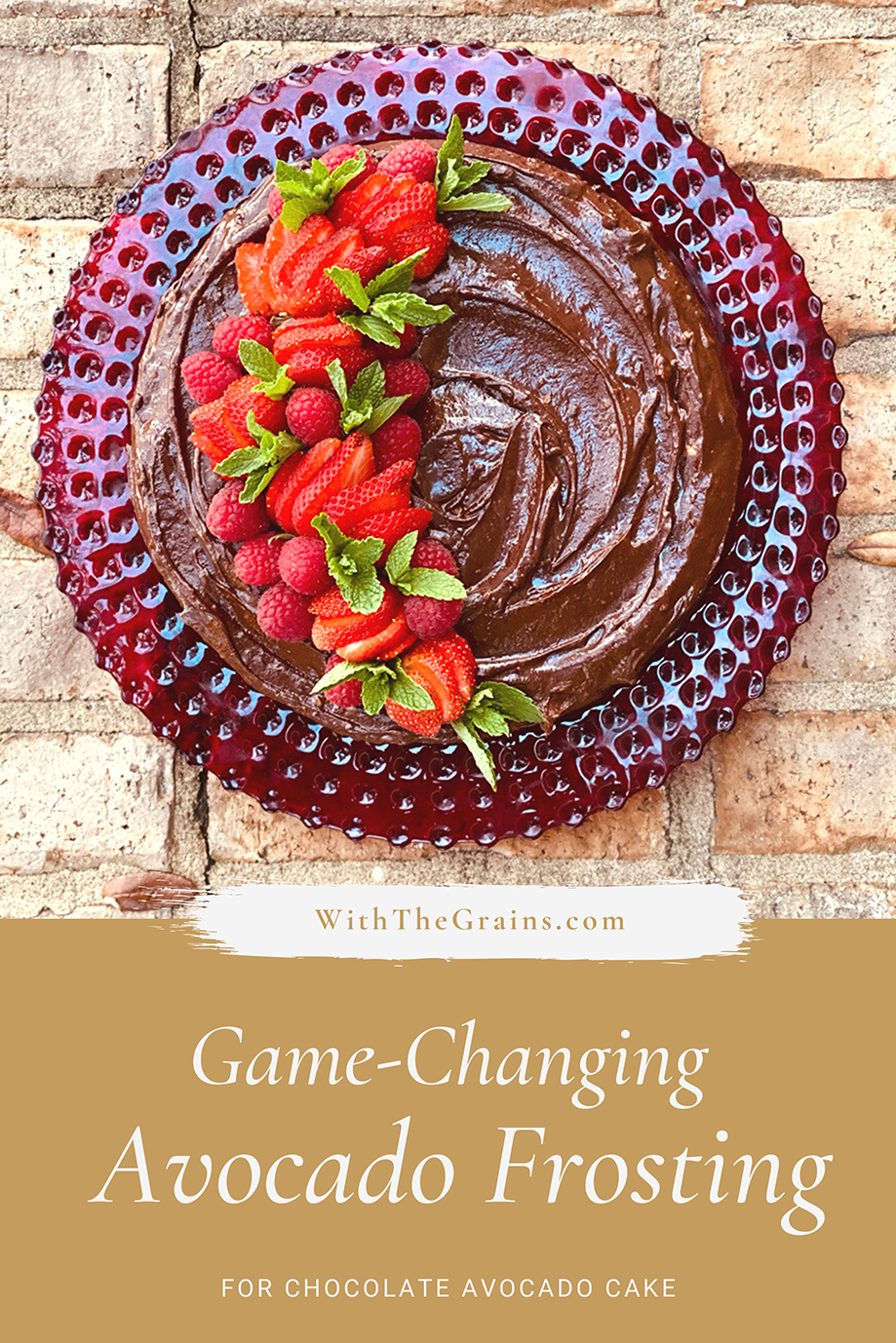 Game-Changing Chocolate Avocado Frosting & Chocolate Avocado Cake // www.WithTheGrains.com
