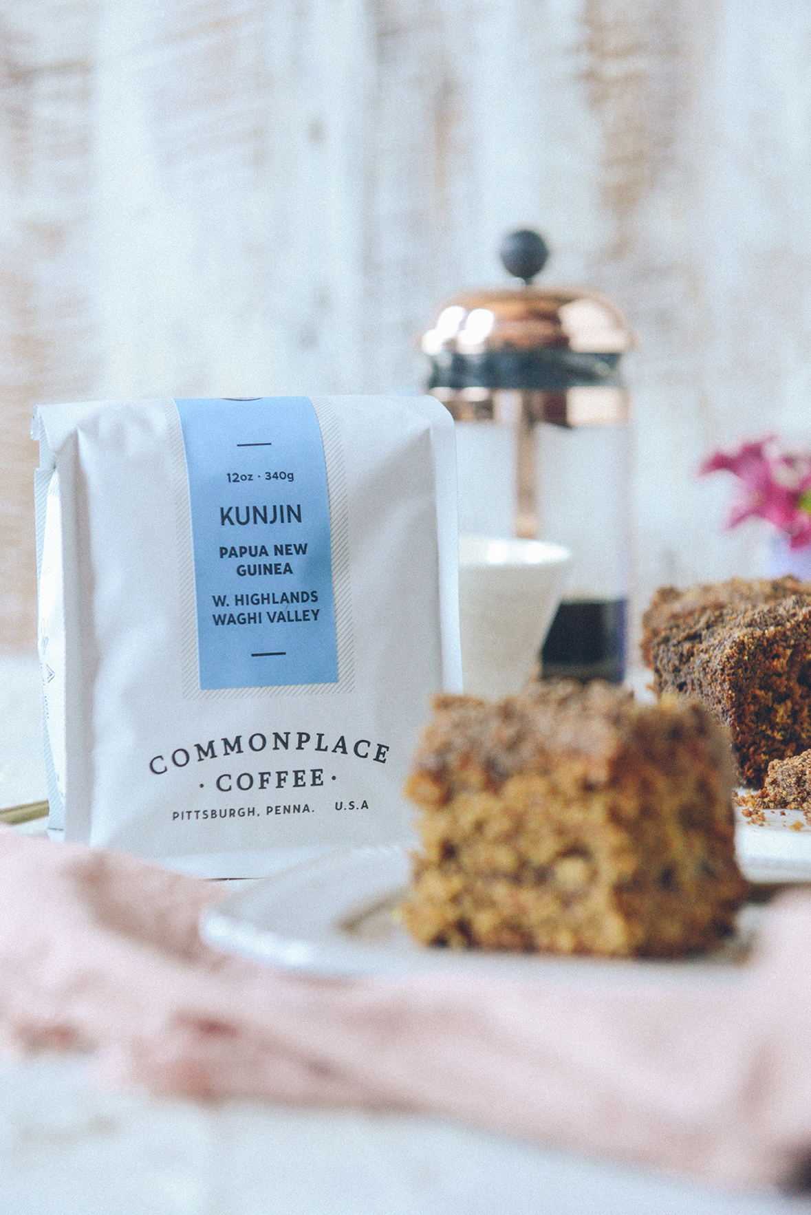 Commonplace Coffee + Gluten-Free Coffee Cake // www.WithTheGrains.com