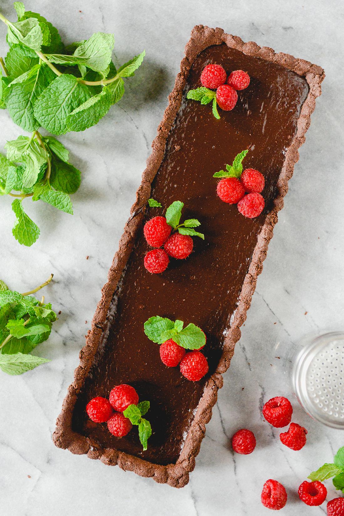A Spring Chocolate Tart // www.WithTheGrains.com
