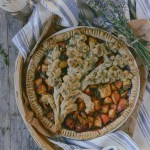 Nectarine Pie with Lavender & Tarragon for Chris (Whole-Grain & Gluten-Free)