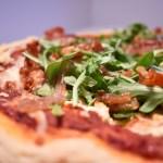 Prosciutto, Shallot, and Arugula Pizza