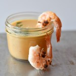 Carrot Ginger Soup with Coconut Shrimp