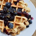 Lemon Blueberry Ricotta Waffles