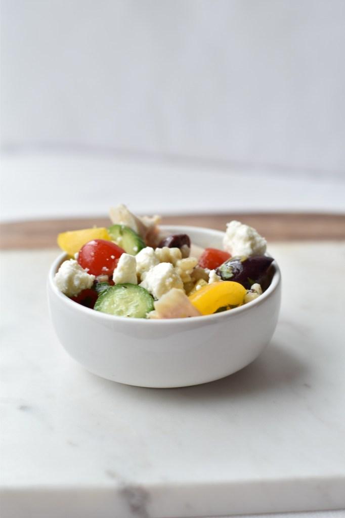 Greek Chicken and Barley Salad
