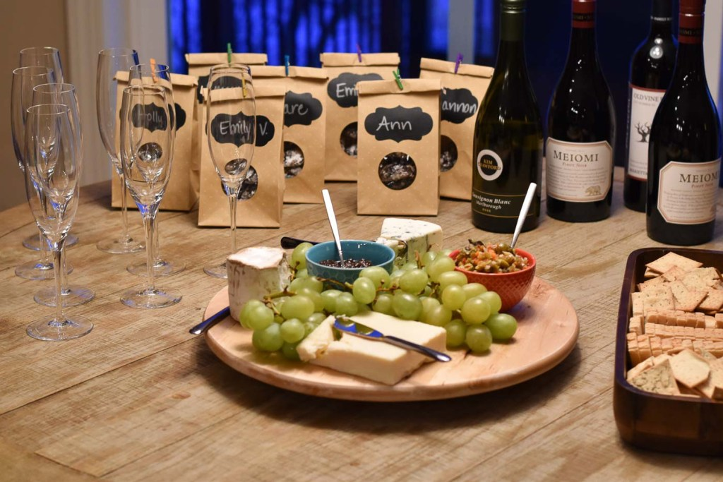 Dinner party cheese tray