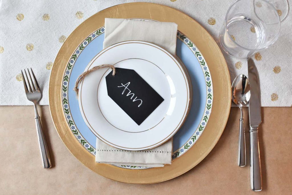 Dinner party place setting