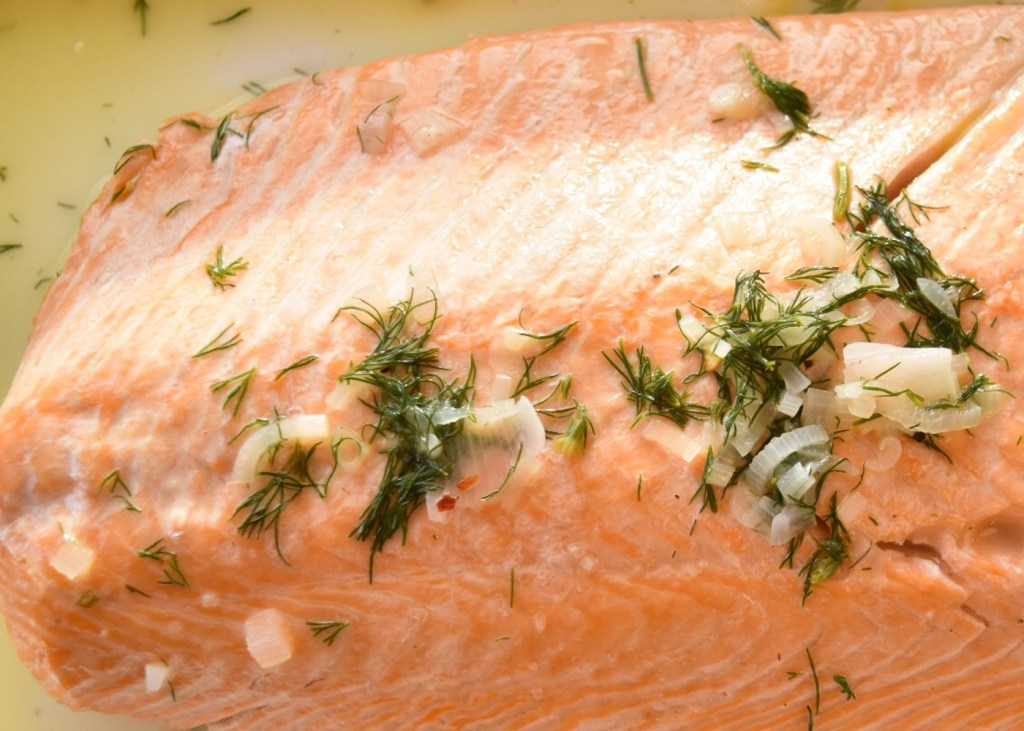 Salmon Butter Dill Close up