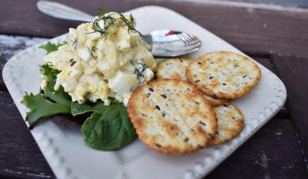 egg salad plate