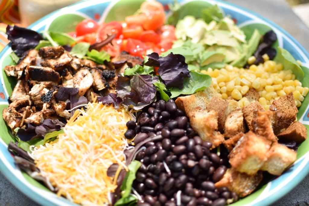 Southwestern Chicken Salad with Cilantro Chipotle Dressing