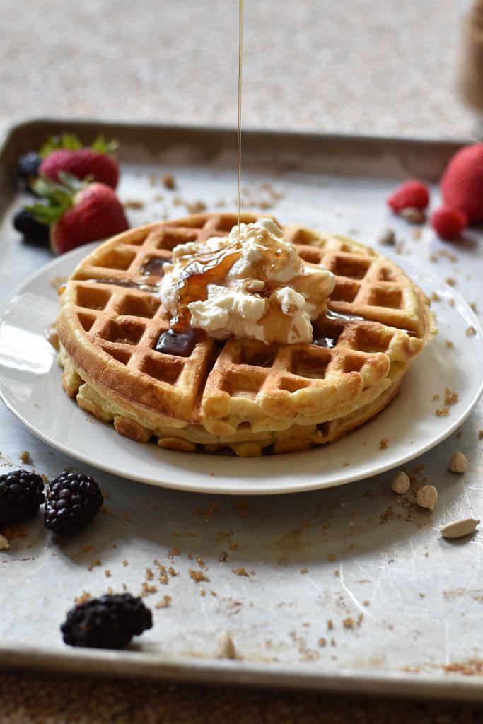 Vanilla Cardamom Waffles