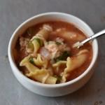 Lighter Lasagna Soup