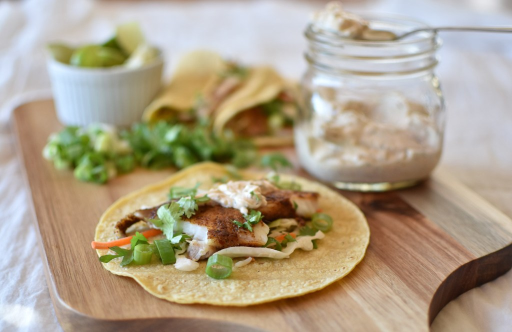 Fish Tacos with Chipotle Crema