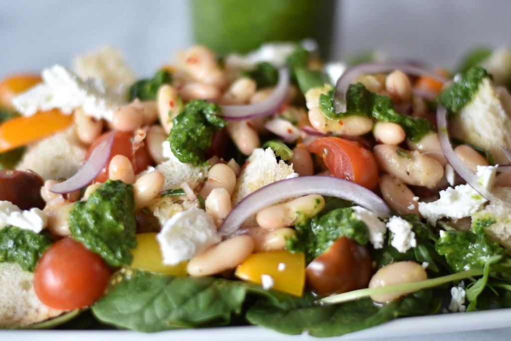 Chimichurri Panzanella with White Beans