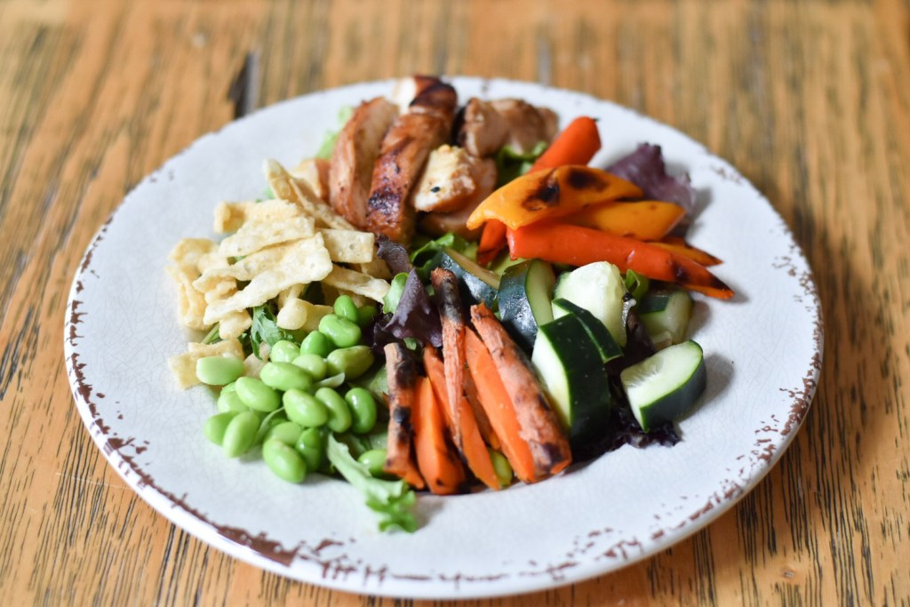 Asian Chicken Salad with Grilled Vegetables