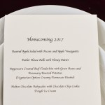 Good Food Reads: Homecoming Dinner 2017