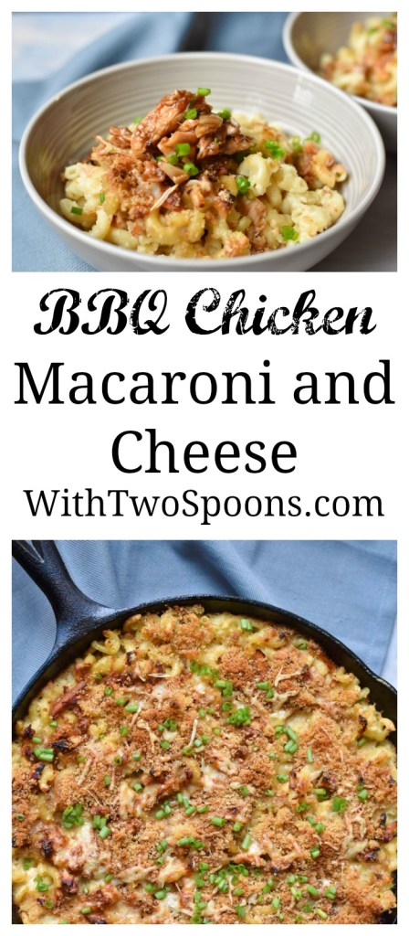 BBQ Chicken Macaroni and Cheese long pin for pinterest