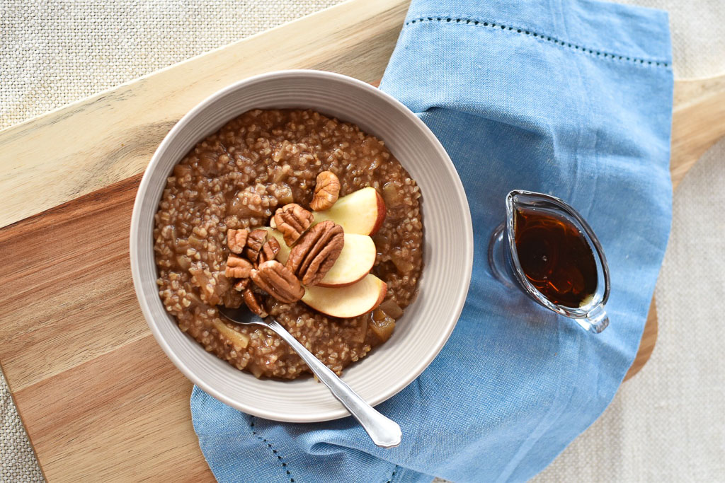 Instant Pot Maple Apple Steel Cut Oats